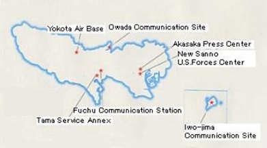 Eight U S Military Facilities In Tokyo